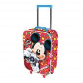 Mala Trolley Viagem Mickey Say Cheese 52cm