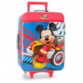 Mala Trolley Viagem Mickey Super Pilotos 50cm
