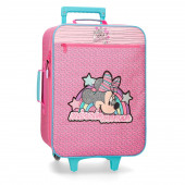 Mala Trolley Viagem Minnie Pink Vibes 50cm
