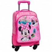 Mala Viagem Trolley Disney Minnie & Daisy NewYork-Paris 44cm