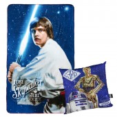Manta Polar + almofada Star Wars -Luke Skywalker