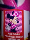 Manta Polar Disney Minnie Stripes