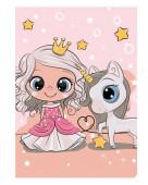 Manta Polar Princesa Unicórnio