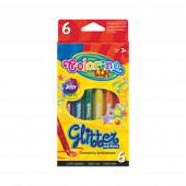 Marcador Brilhantes 6 Cores Colorino