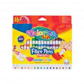Marcadores Finos Junior 16 Cores + 2 Fluorescentes Colorino