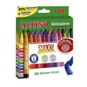 Marcadores Maxi Alpino 24 cores
