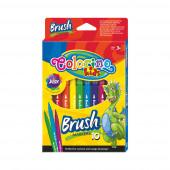 Marcadores Pincel 10 Cores Colorino