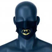 Mascara Comunitária Batman DC Comics Preta Juvenil