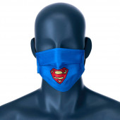 Mascara Comunitária Super Homem DC Comics Azul Juvenil