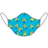 Máscara Reutilizável Criança Minions Azul
