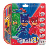 Mega Bloco Actividades Pj Masks 5 em 1
