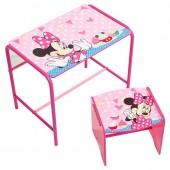 Mesa com banco Minnie Disney