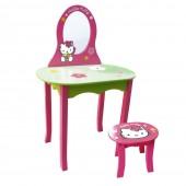 Mesa de Beleza c/ Espelho e Banco Hello Kitty