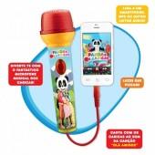 Microfone Musical Panda e os caricas