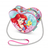 Mini Bolsa Coração Princesa Ariel Coral