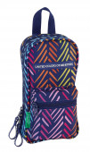 Mini-mochila Plumier 4 estojos Benetton - Spina