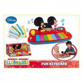 Mini piano mickey e minnie microfone