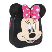 Mochila  28cm pré-escolar preta Minnie Mouse