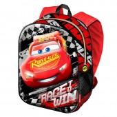 Mochila 3D escolar 38cm Cars Disney Race Win