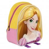 Mochila 3D Eva Rapuzel 28cm - Princesas Disney