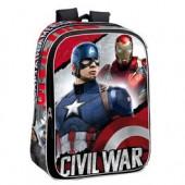 Mochila adap trolley escolar Capitão America Civil War Justice