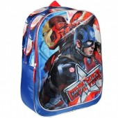 Mochila adap trolley escolar Capitão America Civil War Side