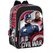 Mochila adap trolley pre escolar Capitão America Civil War Justice