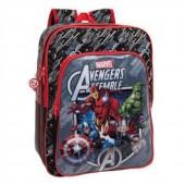 Mochila Avengers Assemble Adap.Trolley + 2 Bolsos  42cm.