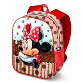 Mochila brilhante escolar 39cm Minnie Disney Muffin