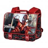 Mochila carteira escolar 41cm Spiderman - Dark