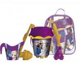 Mochila com balde + acessórios Praia Disney Frozen