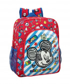 Mochila Escolar 38cm adap Mickey Maker