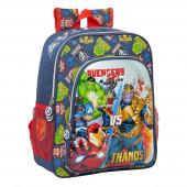 Mochila Escolar 38cm adap trolley Avengers Heroes vs Thanos