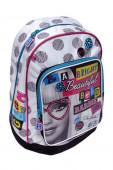 Mochila Escolar 38cm adap trolley Barbie School