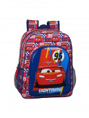 Mochila Escolar 38cm adap trolley Cars Racing Block