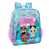Mochila Escolar 38cm adap trolley LOL Surprise Hearts
