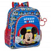 Mochila Escolar 38cm adap trolley Mickey Me Time