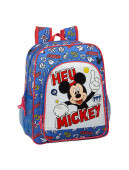 Mochila Escolar 38cm adap trolley Mickey Things