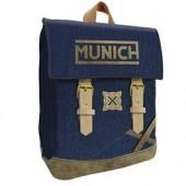 Mochila escolar 38cm com aba Munich