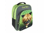 Mochila Escolar 3D Cat Noir 41cm adpt trolley