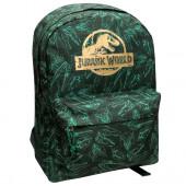 Mochila Escolar 40cm adap trolley Jurassic World Verde