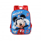 Mochila Escolar 40cm adap trolley Mickey Music