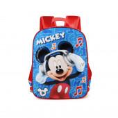 Mochila Escolar 40cm adap trolley Mickey Music