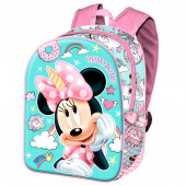 Mochila Escolar 40cm adap trolley Minnie Unicorn Dreams