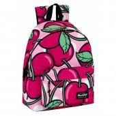 Mochila escolar 40cm Blackfit8 - Cherries