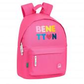 Mochila Escolar 41cm Benetton Heart