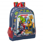 Mochila Escolar 42 cm adap trolley Avengers Heroes vs Thanos