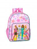 Mochila Escolar 42 cm adap trolley Barbie Dreamer