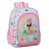Mochila Escolar 42 cm adap trolley Barbie Girl Power