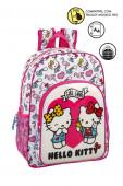 Mochila Escolar 42 cm adap trolley Hello Kitty Girl Gang
